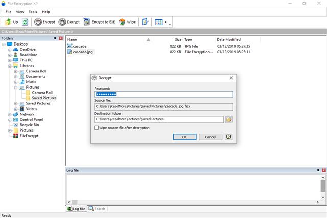 تحميل برنامج تشفير الملفات والمجلدات بكلمة سر File Encryption XP