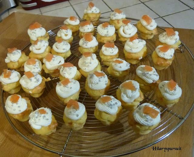 Mini-cupcakes saumon fumé et citron