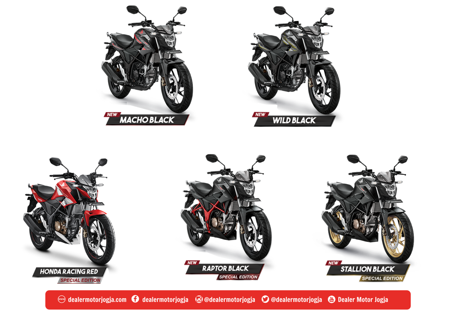 Harga Promo Cash Dan Kredit Honda Jogja CB150R StreetFire Juni 2018