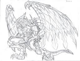 Bahamut coloring page Legendary Animals