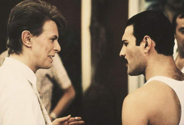Freddie Mercury y David Bowie