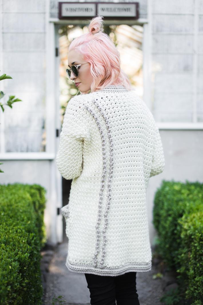 Evangeline Cardigan by @thehooknook for Furls Crochet FREE Crochel Along (CAL)