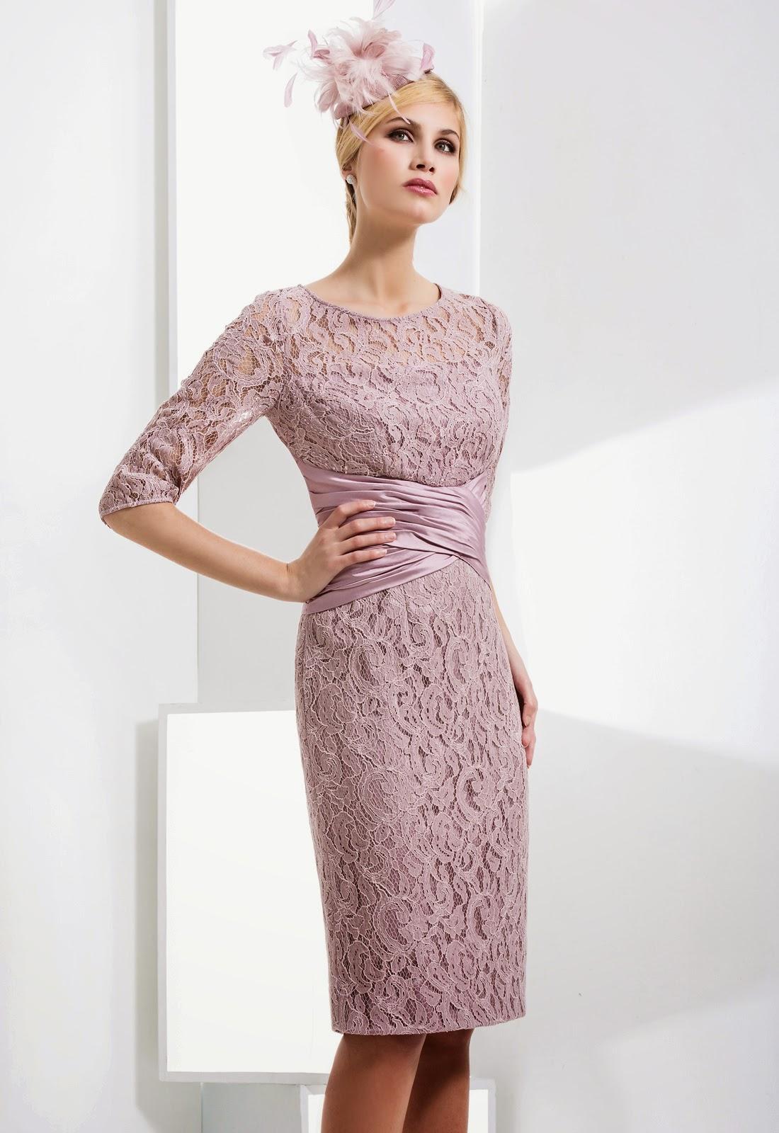 elegante kleider knielang mit arm trendige kleider f r. Black Bedroom Furniture Sets. Home Design Ideas