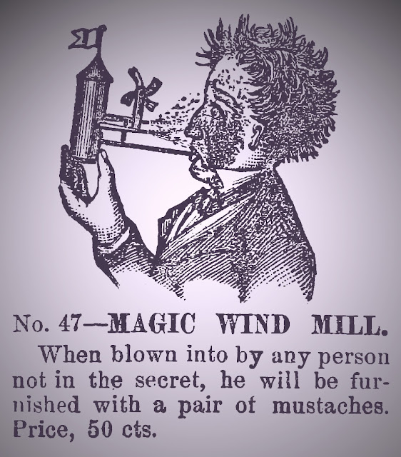 1884 Magic Windmill prank advertisement illustration
