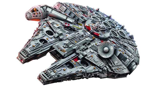 The largest and most expensive Lego set ever created this is incredible Star Wars Millennium Falcon