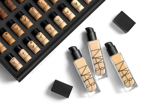 NARS Natural Radiant Longwear Foundation Review Swatches All Shades Before After Oily Skin MAC Equivalent NW10 NC15 NW20 NC25 NC30 NW35 NC40 NW45 NC50 NW55