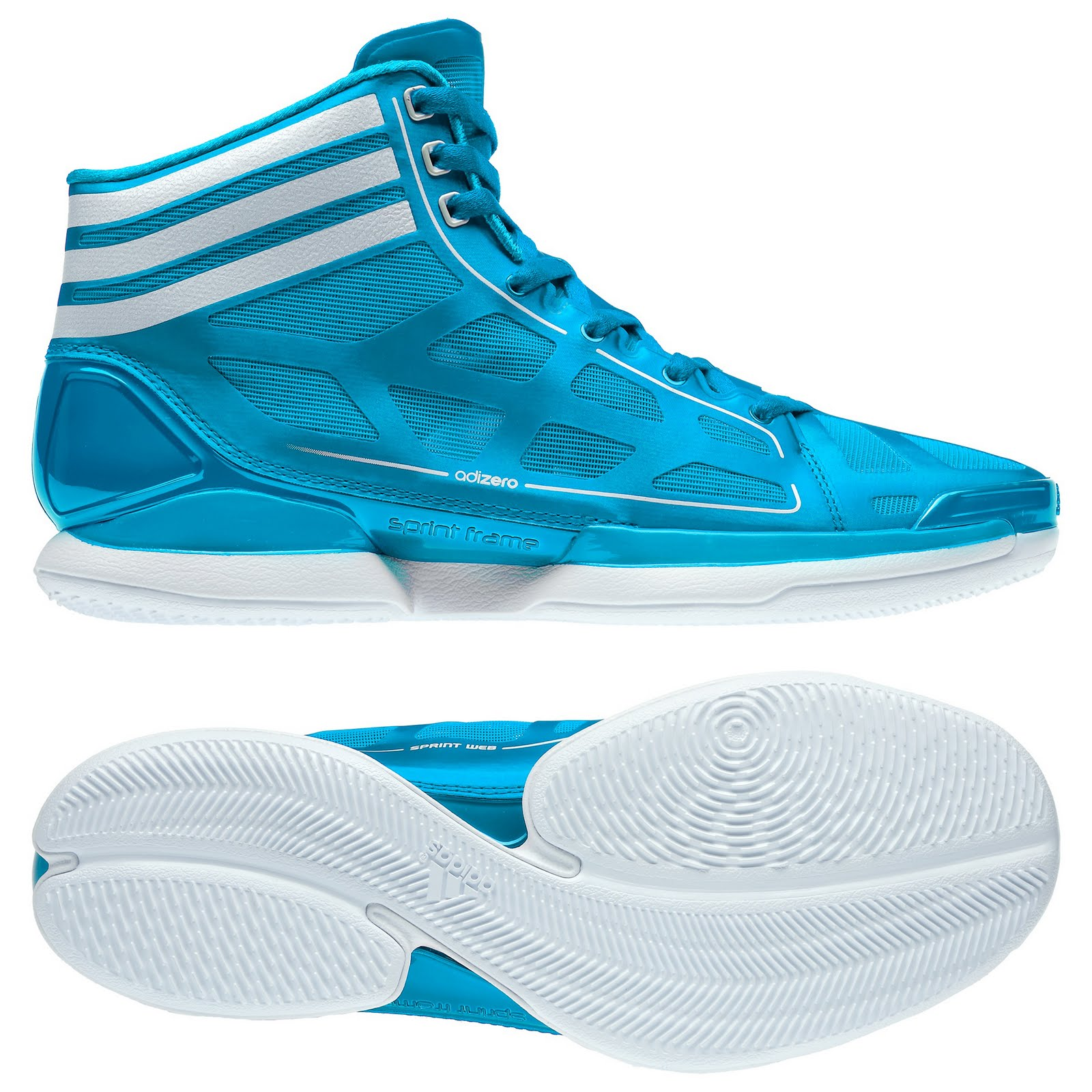 purchase cheap 672fa a1ce3 Detailed look at the AdiZero Crazy Light s lateral view and outsole. (Image  Courtesy of Adidas Philippines). The shoe s ...