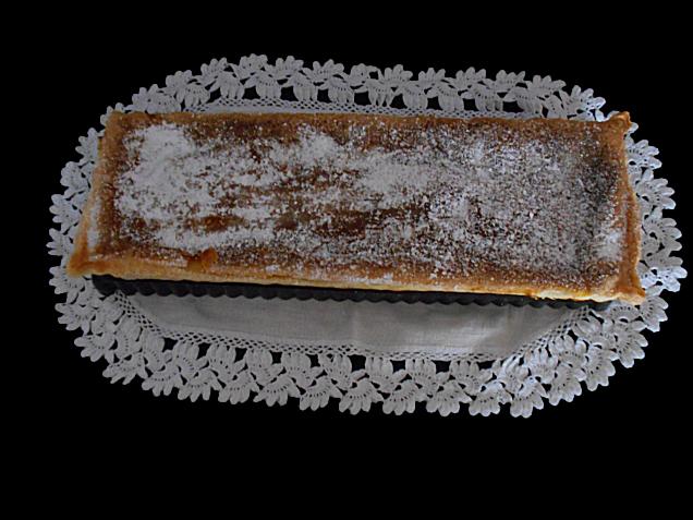 tarte de feijao branco e laranja