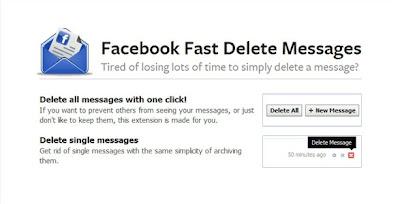 حذف رسائل الفيسبوك بضغطة واحده