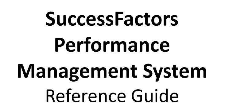 Successfactors Performance Management System