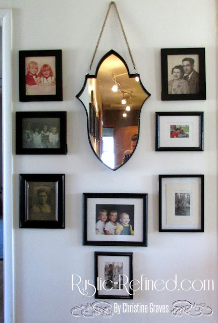 Photo gallery wall for family photos