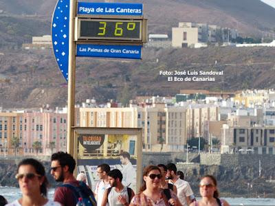 Finaliza alerta temperaturas máximas Canarias 31 agosto