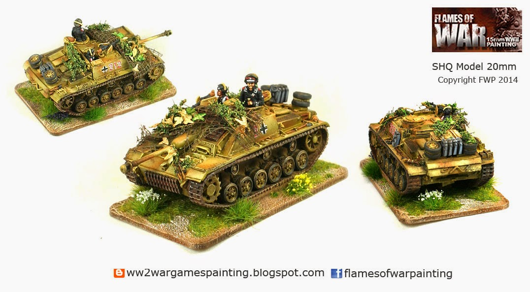 Painted SHQ 20mm German Stug