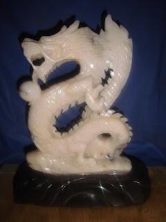 Jual patung marmer naga