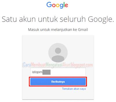lupa kata sandi akun google