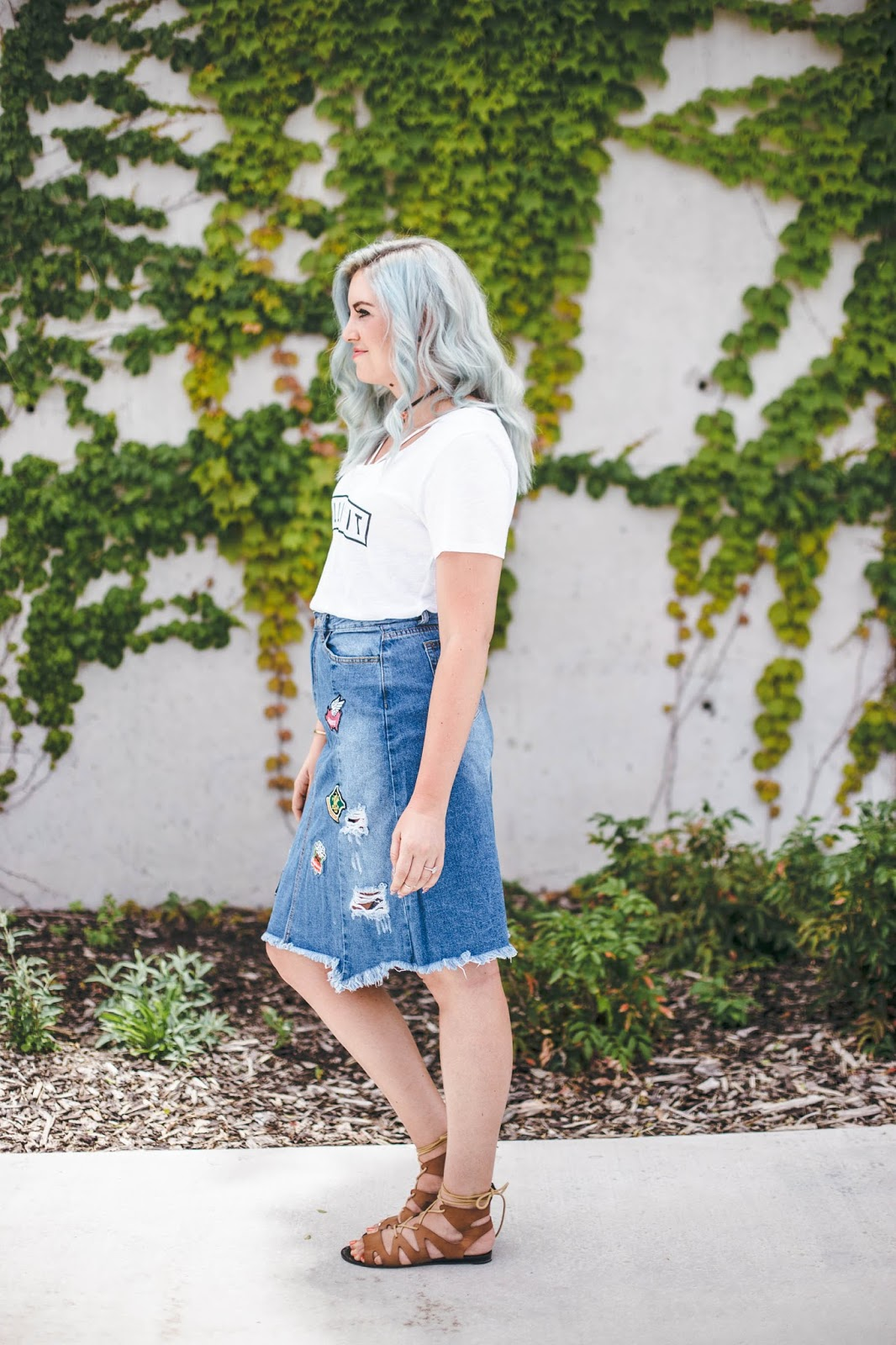 Summer Outfit, Casual Outfit, Blue Hair