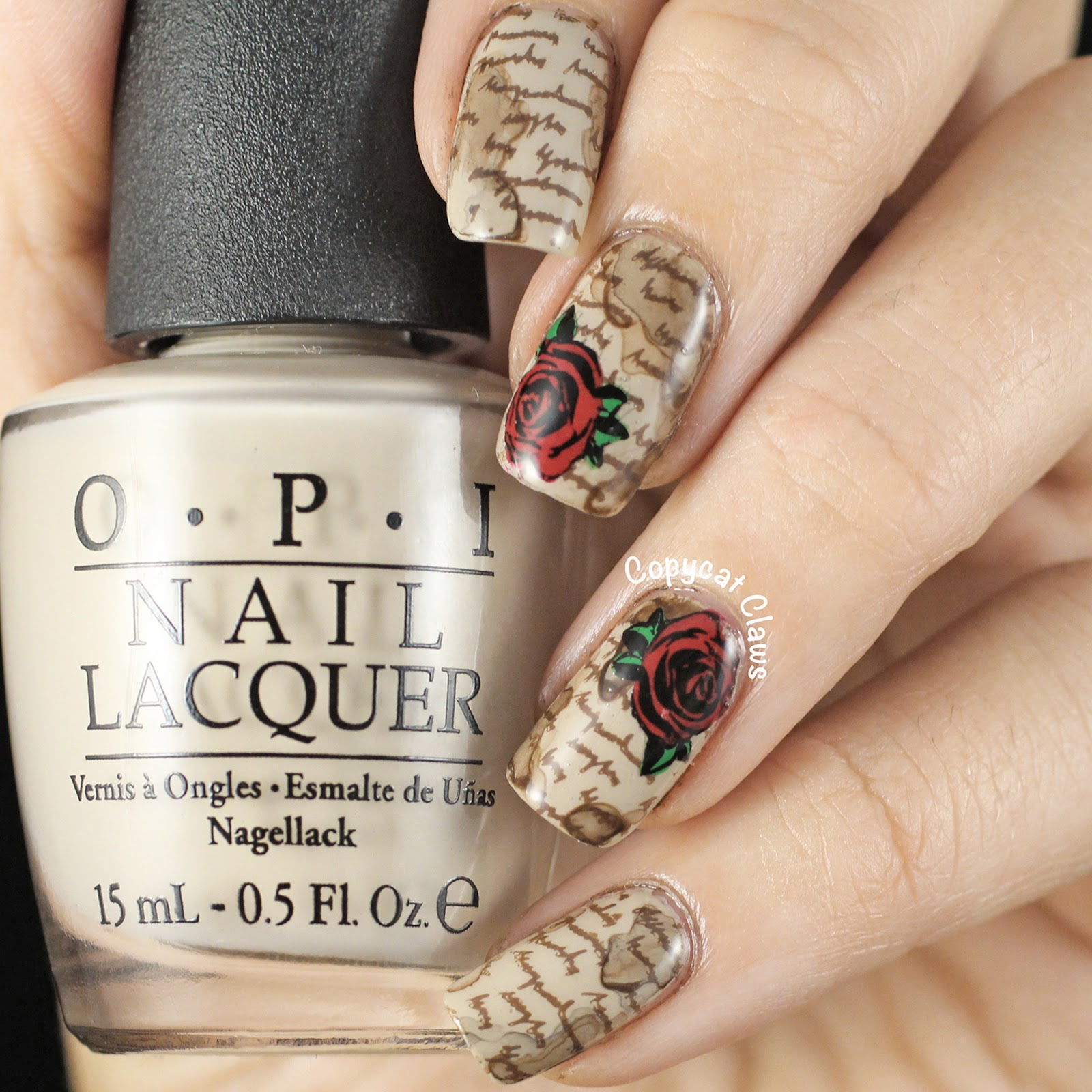 Copycat Claws: Stained Love Letter Nail Stamping