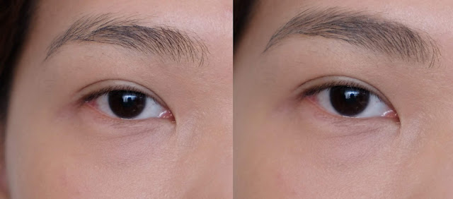 before and after photo of Pixi Natural Brow Duo Review by Nikki Tiu of www.askmewhats.com
