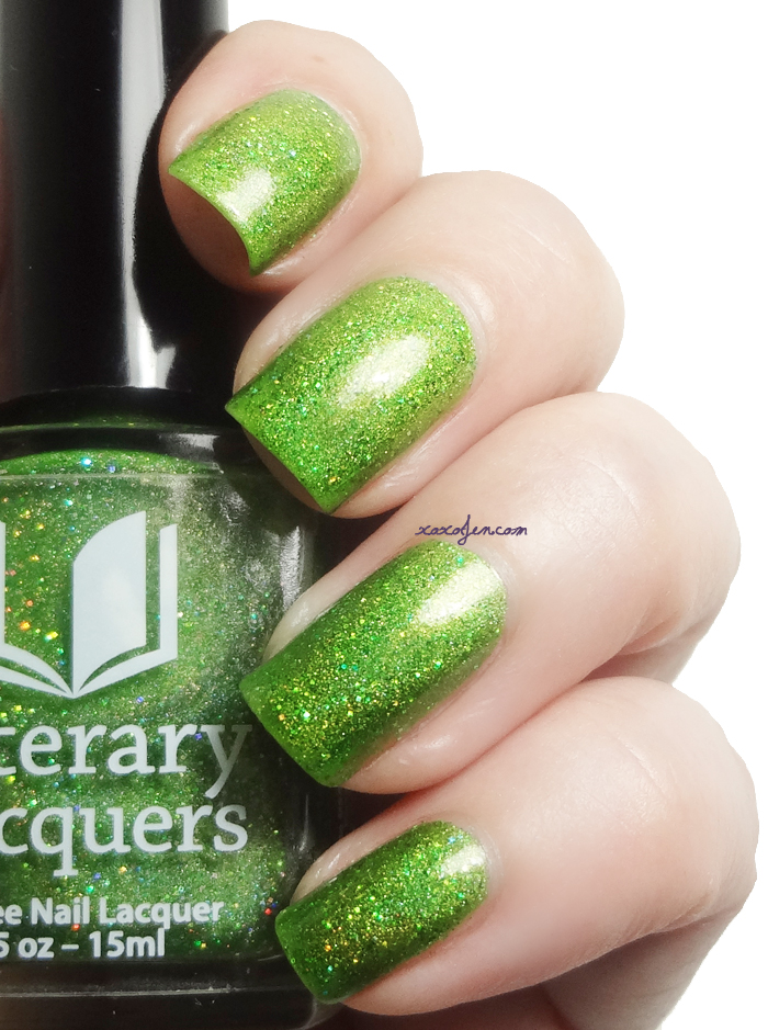 xoxoJen's swatch of Literary Lacquers Can't Work By Lime Light