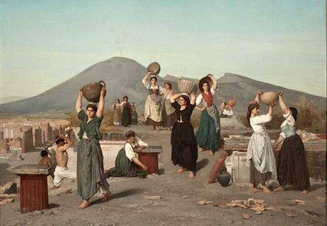 Édouard Alexandre Sain - Раскопки Помпеи