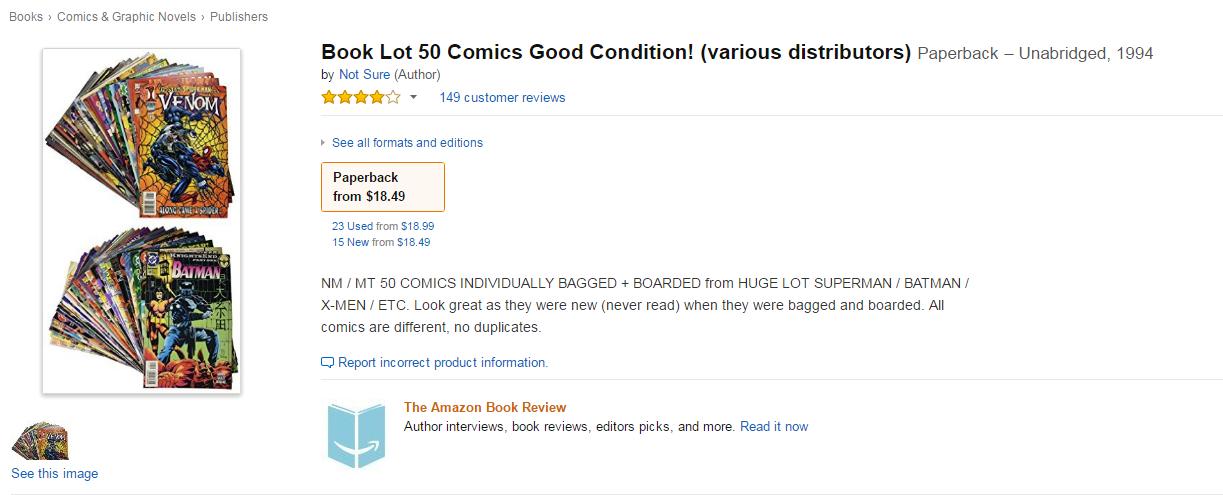 book lot 50 comics good condition various distributors