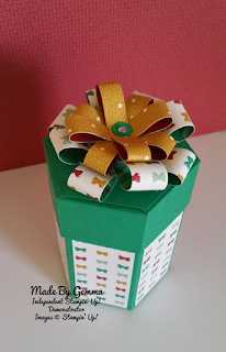 Stampin'Up! presents and pinecones gift box