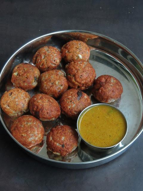 Gluten free Redrice Dal Dumplings, Paruppu Paniyaram
