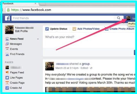 hide facebook posts from timeline