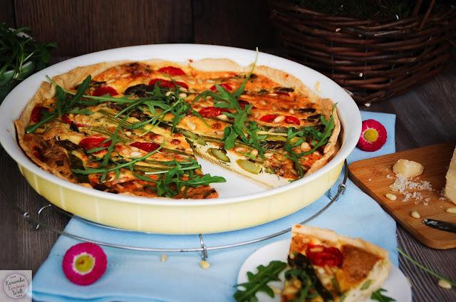 Spargeltarte mit Parmesan