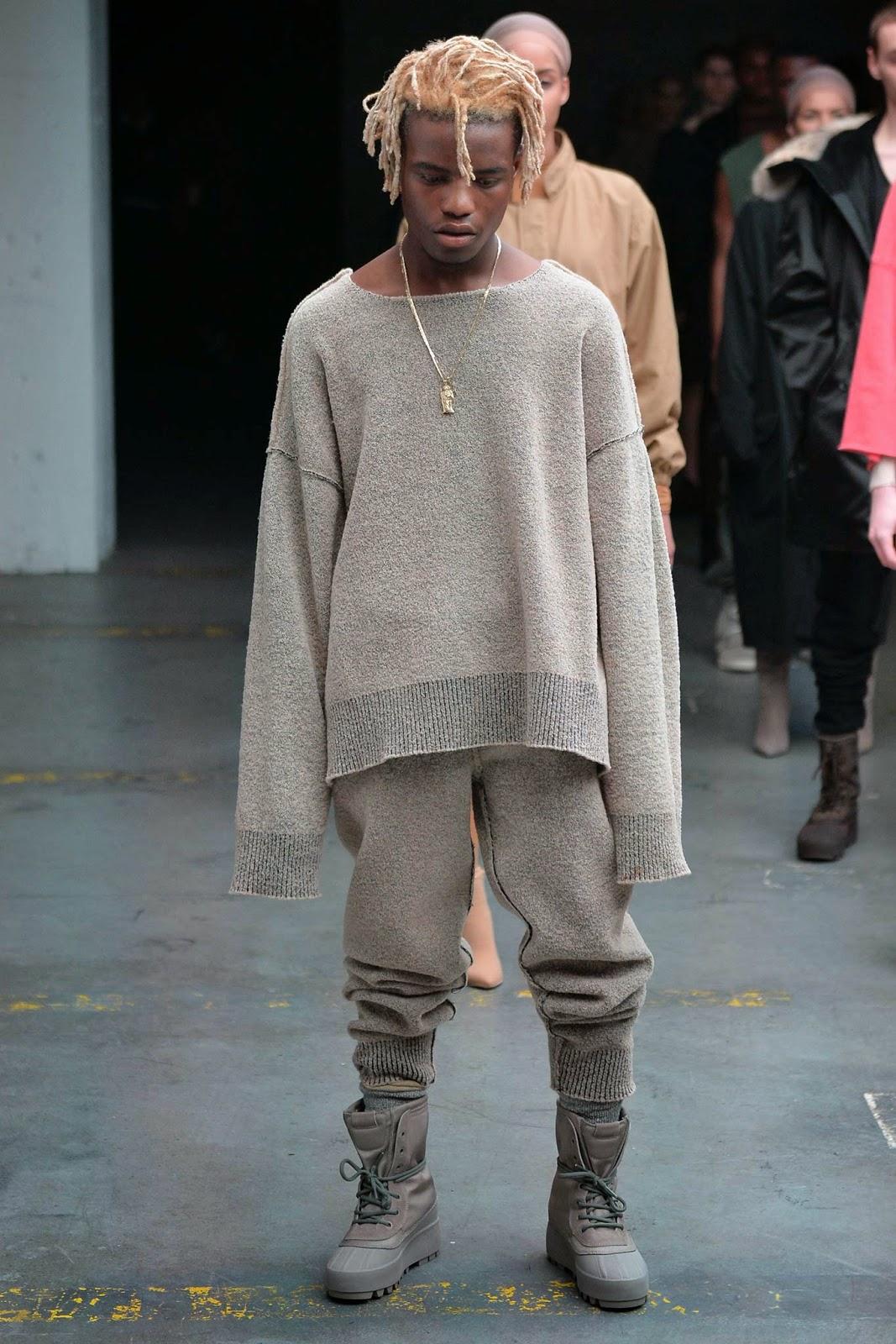Kanye West Wearing Haider Ackermann Sweatpants And Adidas