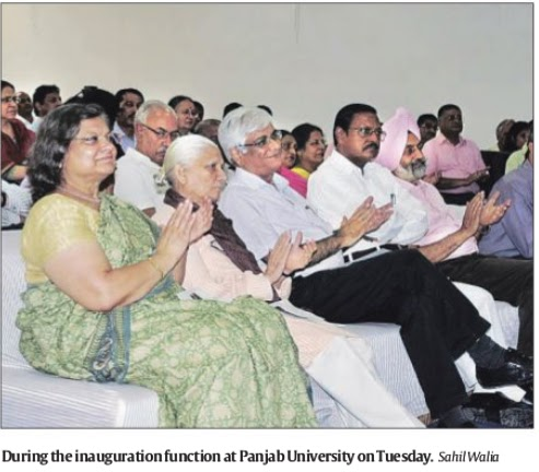 Satya Pal Jain at the inauguration function of Panjab University Institute of Social Sciences Education & Research (PU-ISSER) on Tuesday.
