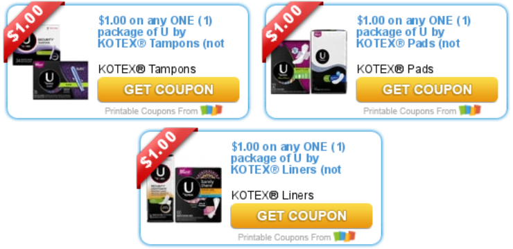 3 In U By Kotex Printable Savings Deals And To Dos