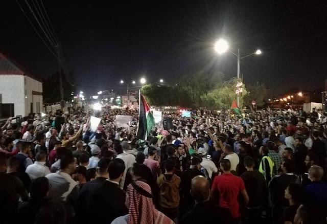 تجدد الاحتجاجات في الأردن  رغم استقالة الحكومة.(فيديو)