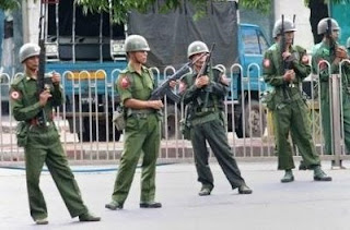 Myanmar Army in Action