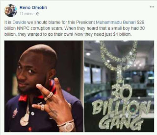 Reno Omokri's post