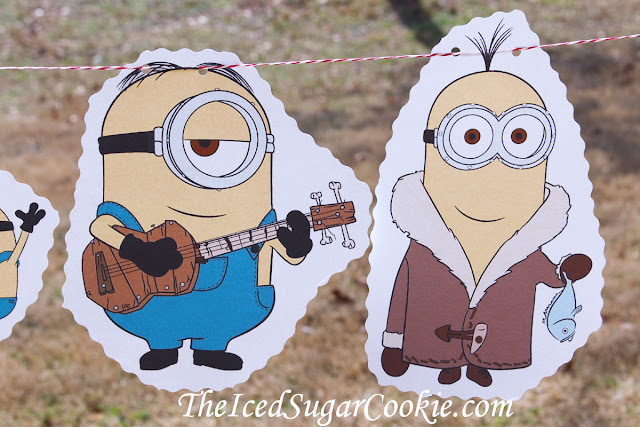 Minions Birthday Party DIY Ideas-Flag Bunting Banner Garland
