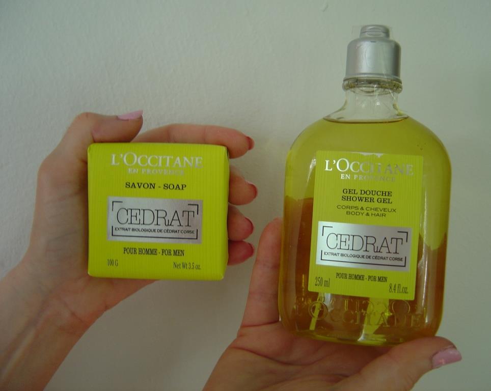 L'Occitane Cedrat Shower Gel and Soap for Men