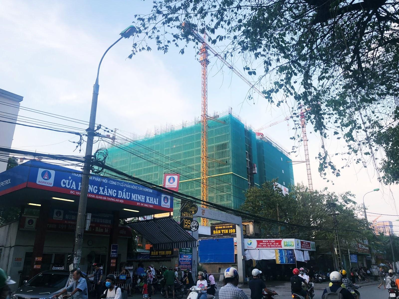 Hình ảnh xây dựng mới của dự án Hinode City 201 Minh Khai