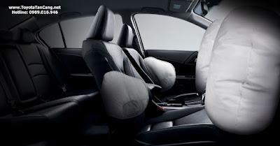 Honda Accord được trang bị 4 túi khí
