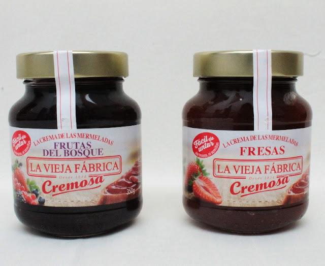 mermeladas la fabrica cremosa fresa y frutas del bosque