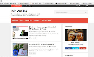 blog indri ariadna sudah menggunakan top level domain