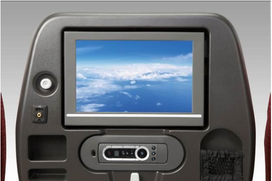JAL SKY WIDER is equipped with 10.6 inch touch-screen TV.