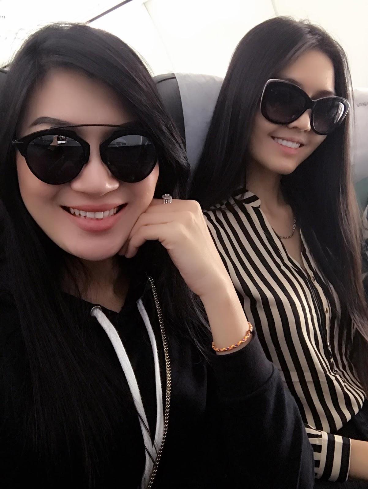 Yoon Mhi Mhi Kyaw and Zune Thansin Shopping , Fun in Bangkok