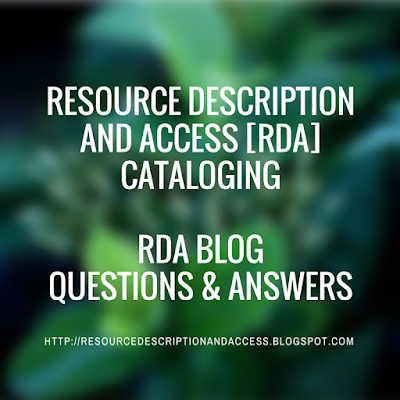 RESOURCE DESCRIPTION AND ACCESS RDA