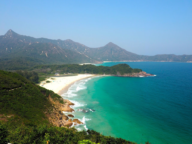Ham Tin Wan beach in Tai Long Wan bay, Hong Kong
