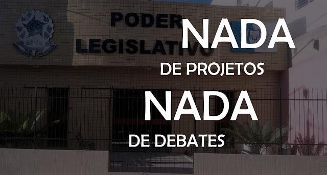 Na reunião do Legislativo Municipal desta quinta-feira(01/12) não houve projetos para votar