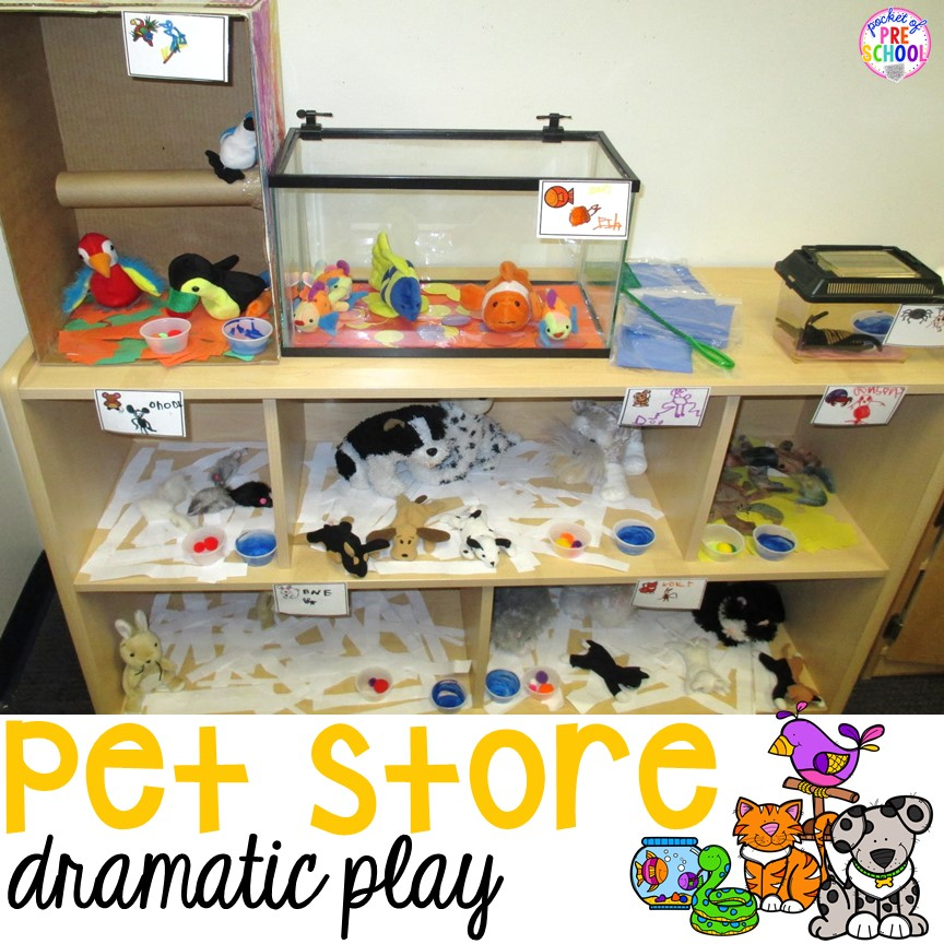 Classroom Pet Ideas : Pet store dramatic play pocket of preschool