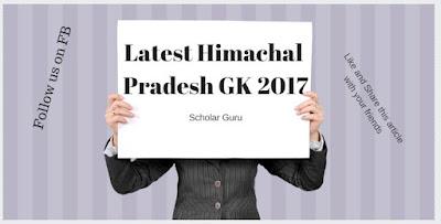 Himachal Pradesh GK 2017