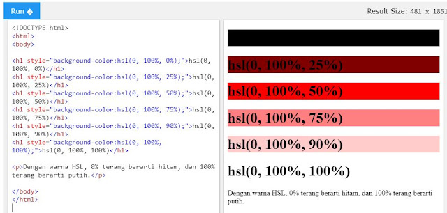 lightness html