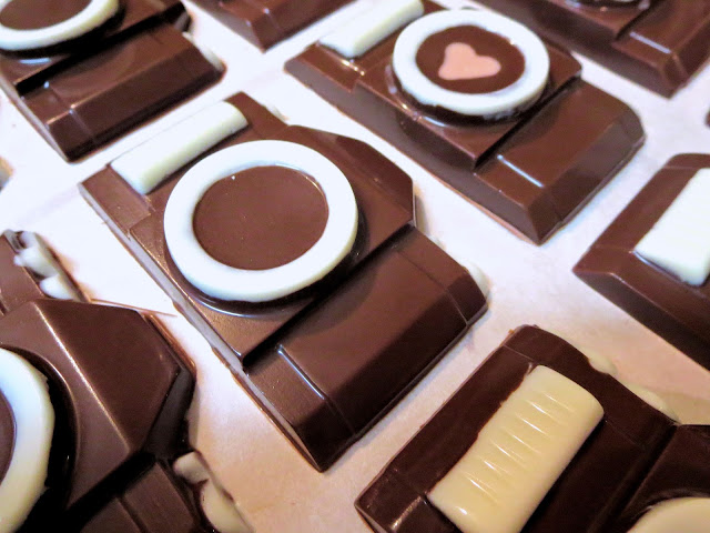Chocolate Camera Candy Goodie Bag Favors - Close Up Angled View 1